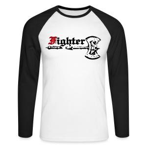 langärmeliges Baseballshirt Fighter - Männer Baseballshirt langarm