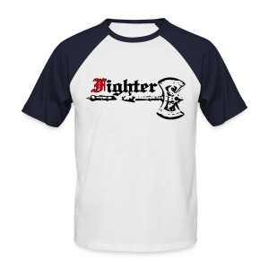 Kurzärmeliges Baseballshirt Fighter - Männer Baseball-T-Shirt