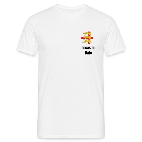 Customisable 3 lions st George cross T Shirt - Men's T-Shirt