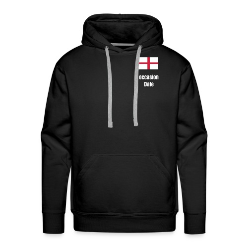 Customisable st George cross thermal hoodie - Men's Premium Hoodie