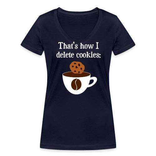 Cookies Kaffee Nerd Geek T-Shirts - Frauen Bio-T-Shirt mit V-Ausschnitt von Stanley & Stella