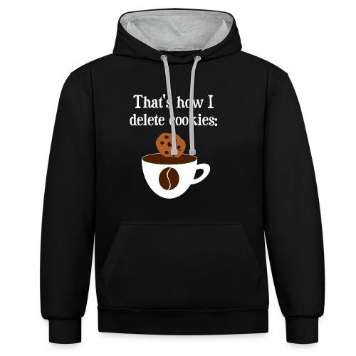 Cookies Kaffee Nerd Geek Pullover & Hoodies - Kontrast-Hoodie