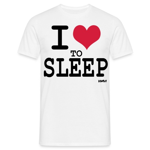 Bas T-Shirt Herr I Love To Sleep - T-shirt herr