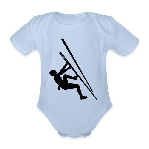 Baby male with logo - Organic Short-sleeved Baby Bodysuit