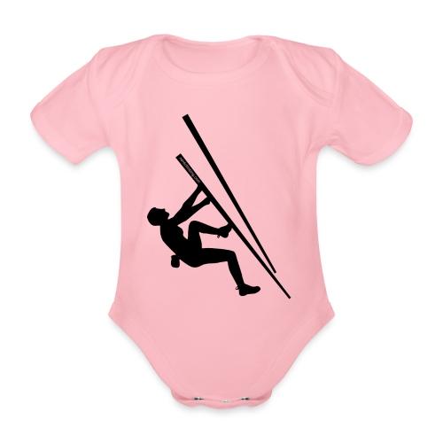 Baby female with logo - Organic Short-sleeved Baby Bodysuit