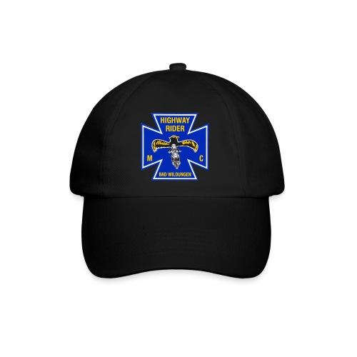 Basecap schwarz mit Colorpatch-Logo farbig - Baseballkappe