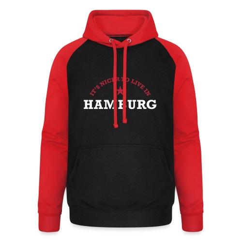 hamburg - Unisex Baseball Hoodie