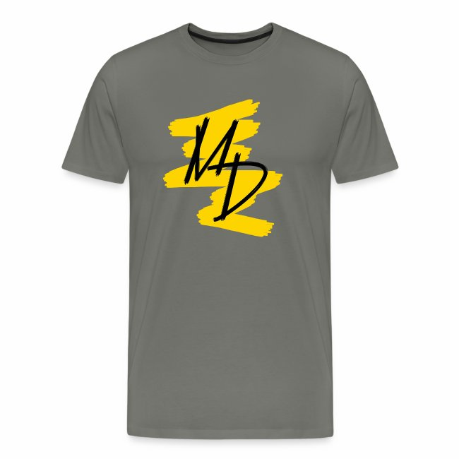 Camiseta premium logo MD original en color amarillo (Hombre)