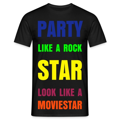 Party like a rockstar herr - T-shirt herr