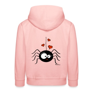 Sweat Araignée Halloween Party (fille) - Pull à capuche Premium Enfant