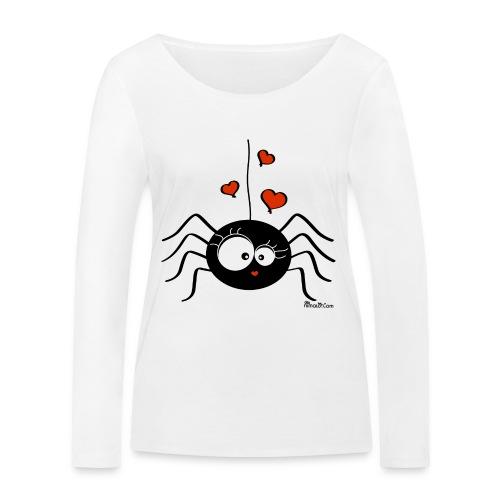 T-shirt ml Bio Femme Araignée Halloween Party - T-shirt manches longues bio Stanley & Stella Femme