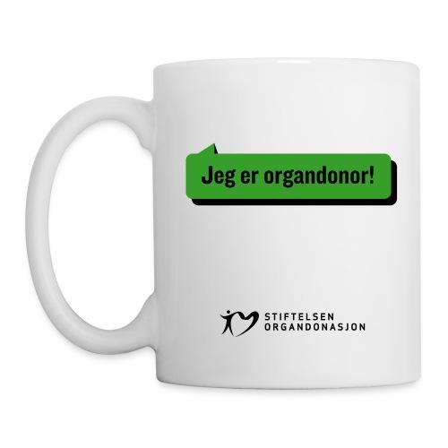 Jeg er organdonor krus  - Kopp