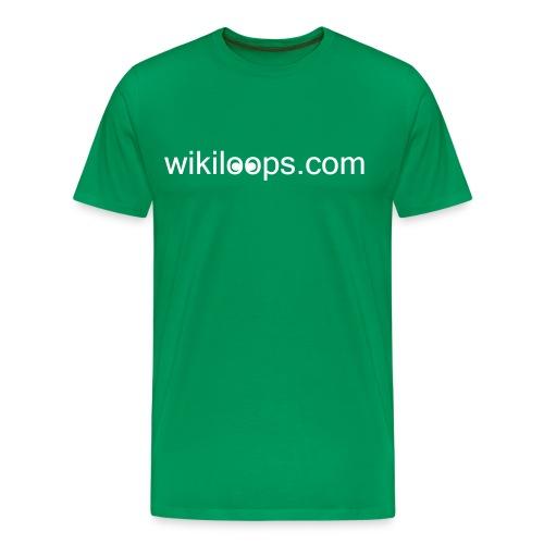 Customizable Backside Text - wiki shirt - Men's Premium T-Shirt