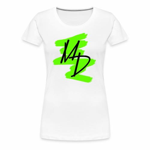 Camiseta premium logo MD original en color verde (Mujer) - Camiseta premium mujer