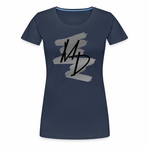 Camiseta premium logo MD original en escala de grises (Mujer) - Camiseta premium mujer
