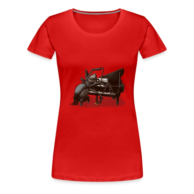Spider Pianist Women T-Shirt pink