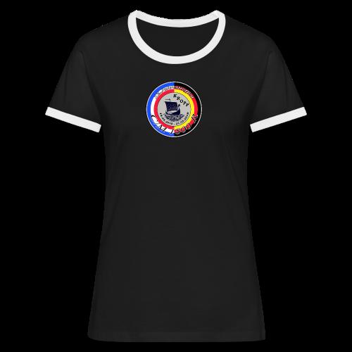 Damen-Retro-Shirt JT 2018 - Frauen Kontrast-T-Shirt