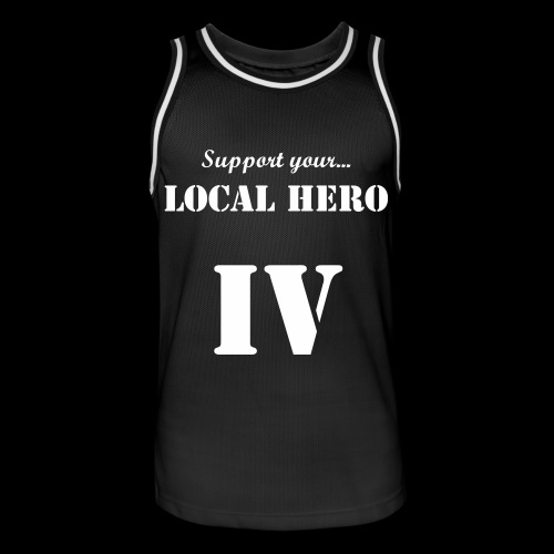 LIMITED IV:XX Support Your Local Hero Black Basketball Jersey - Basebollinne herr