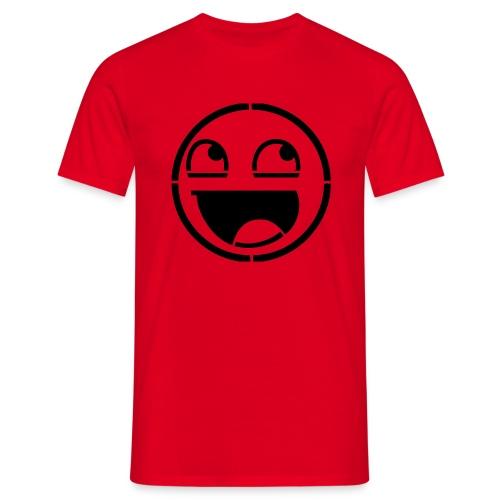 Awesome Face Stencil Czarny - Koszulka męska