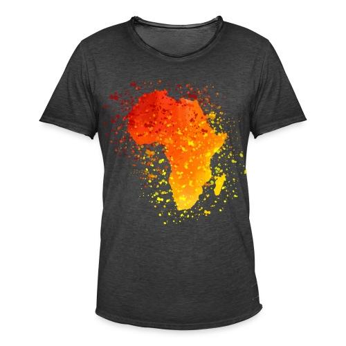 T-Shirt Afrika Karte  - Männer Vintage T-Shirt