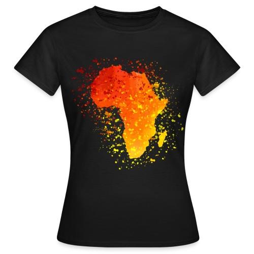 T-Shirt Afrika Karte  - Frauen T-Shirt