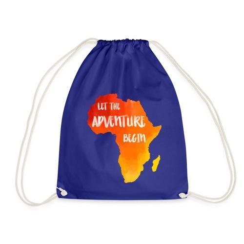 Beutel Afrika Karte Abenteuer - Turnbeutel