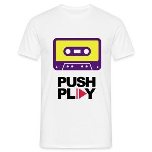 Push play  - Mannen T-shirt