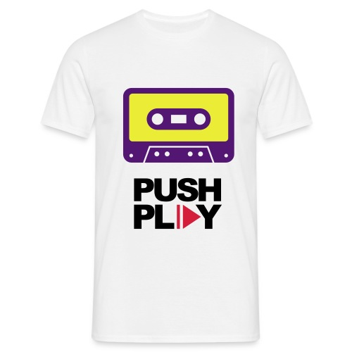 Push play  - Mannen T-shirt