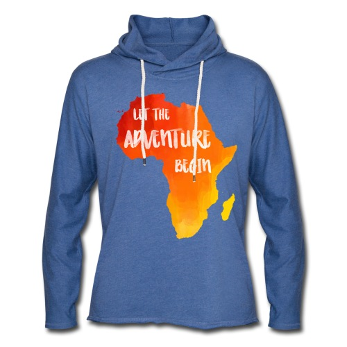 Pulli Afrika Karte - Leichtes Kapuzensweatshirt Unisex
