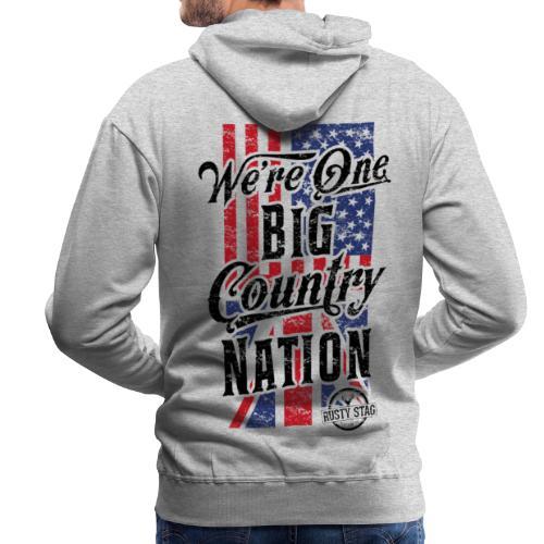 Country Nation Mens Hoodie - Men's Premium Hoodie