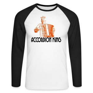 Accordion King - Men's Long Sleeve Baseball T-Shirt