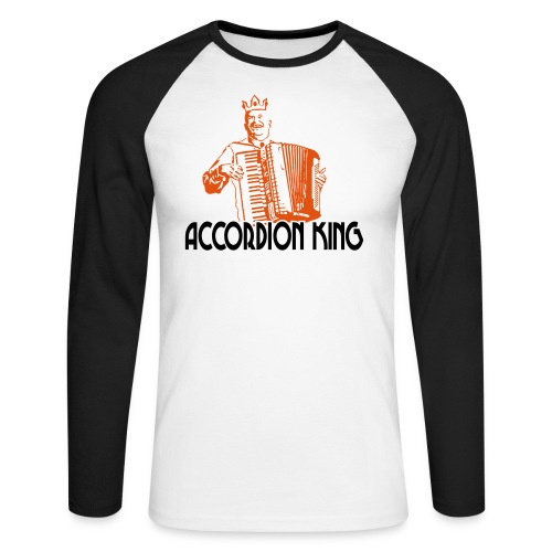 Accordion King - Men's Long Sleeve Baseball T-Shirt
