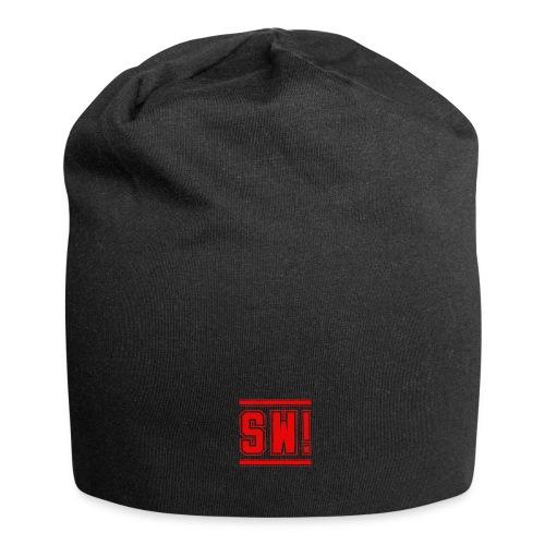 SUPER WANG! Beanie mit Logo SW! klein, rot - Jersey-Beanie