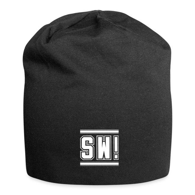 "SUPER WANG! Beanie mit Logo ""SW!"" groß, weiß"