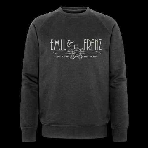 Emil & Franz Emblem (Überzieher Titangrau) - Männer Bio-Sweatshirt von Stanley & Stella