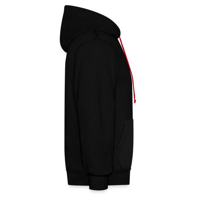 SUPER WANG!, Kontrast Hoodie, schwarz-rot, mit Bandfoto und Logo, unisex