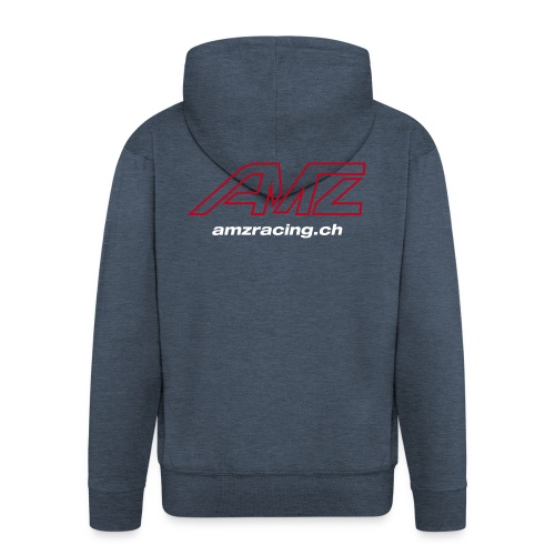 AMZ 2018 eiger Hoodie Zip grey - Männer Premium Kapuzenjacke