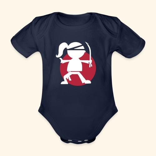 Girls rock Ninja Girl - Organic Short-sleeved Baby Bodysuit