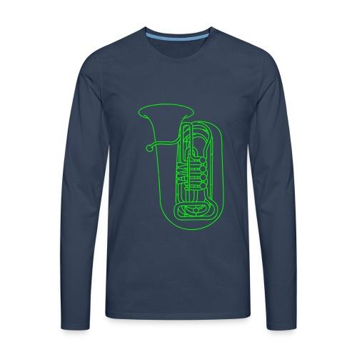Tuba Blechblasinstrument - Männer Premium Langarmshirt