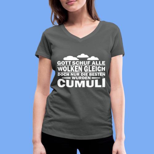 Segelflieger Spruch als Geschenk - Women's Organic V-Neck T-Shirt by Stanley & Stella