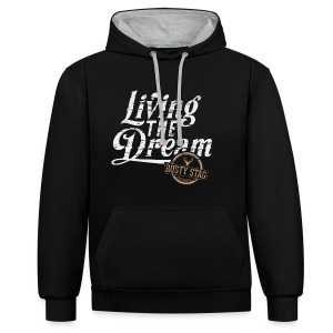Living The Dream Unisex Hoodie - Contrast Colour Hoodie