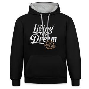 Living The Dream Unisex Hoodie - Contrast Colour Hoodie