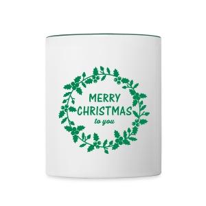 Tasse Merry Christmas - Tasse zweifarbig