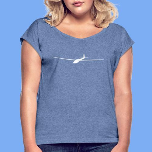 Segelflugzeug - Women's T-Shirt with rolled up sleeves