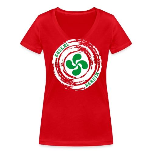 Croix Basque Lauburu - T-shirt bio col V Stanley & Stella Femme