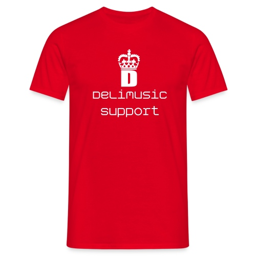 DeLi's Music Support basis T-shirt - Herre-T-shirt