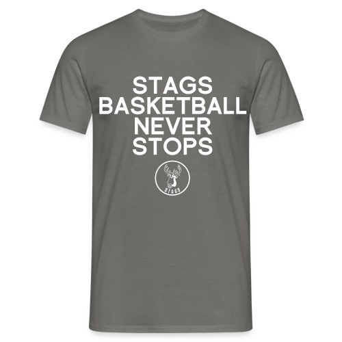 Stags Basketball Never Stops - Männer T-Shirt
