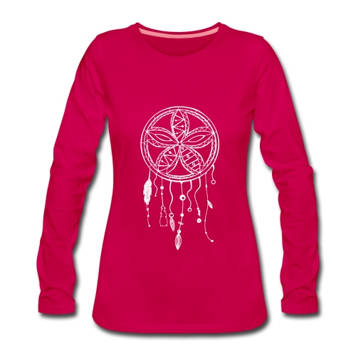 tee shirt dream catcher rose - T-shirt manches longues Premium Femme