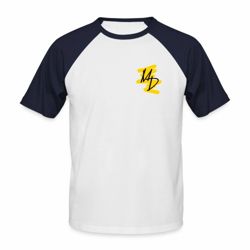 Camiseta béisbol logo MD original amarillo - Camiseta béisbol manga corta hombre