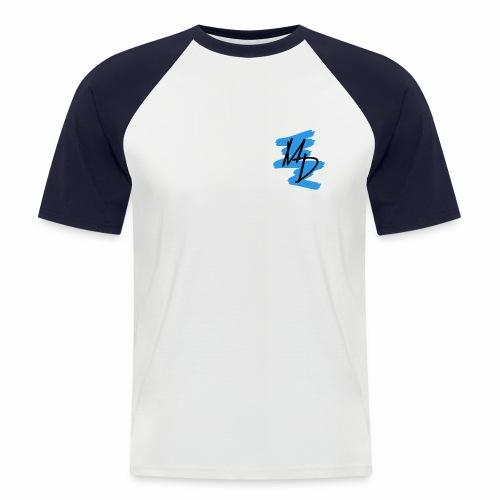 Camiseta béisbol logo MD original azul - Camiseta béisbol manga corta hombre